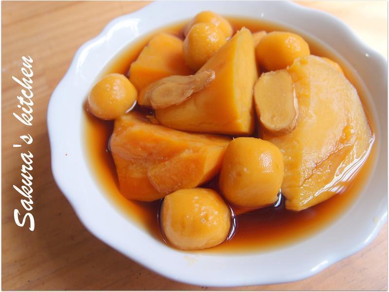 ♥我的手作料理♥ 薯圓地瓜薑汁湯