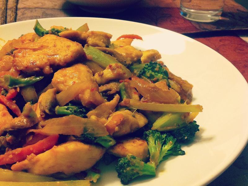 日式定食風★辣味噌炒雞肉