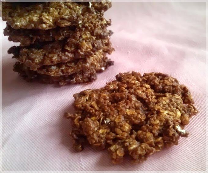 黑糖蜂蜜燕麥餅乾。無油低糖