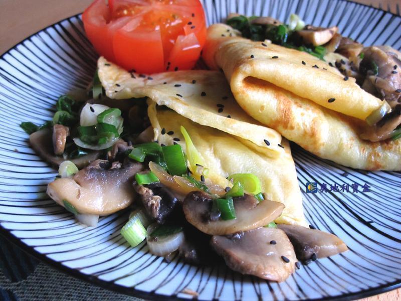 青蔥蘑菇+西式蛋餅