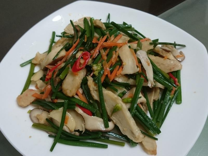 [蔬菜]韭菜花炒甜不辣