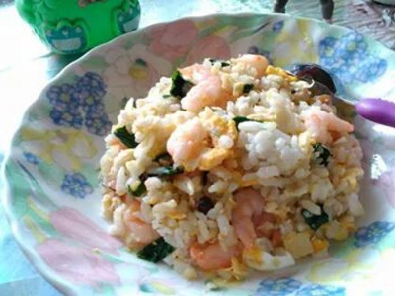 奶油蒜香蝦仁炒飯
