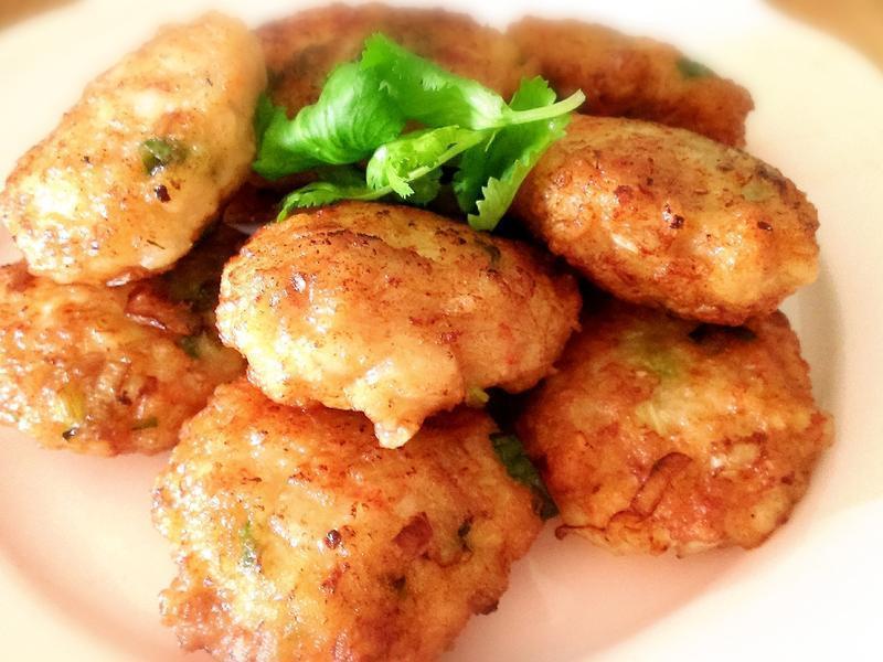 洋蔥豬肉蝦餅