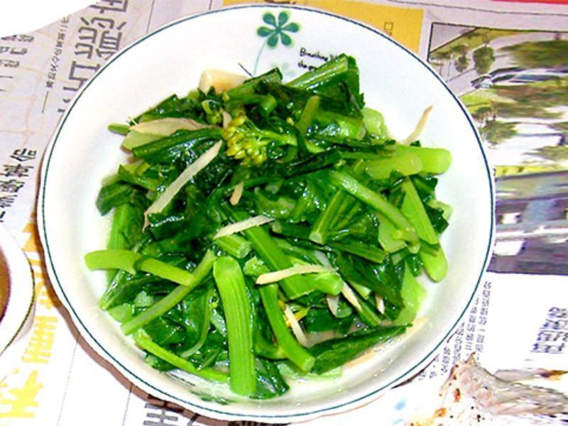 [ 5分鐘快炒] 油麻菜+花