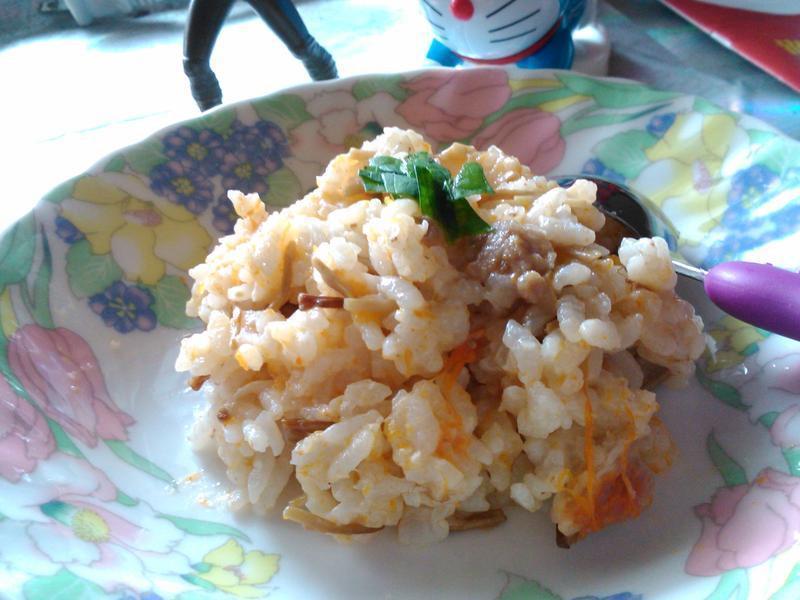 無油料理-南瓜菇菇炊飯