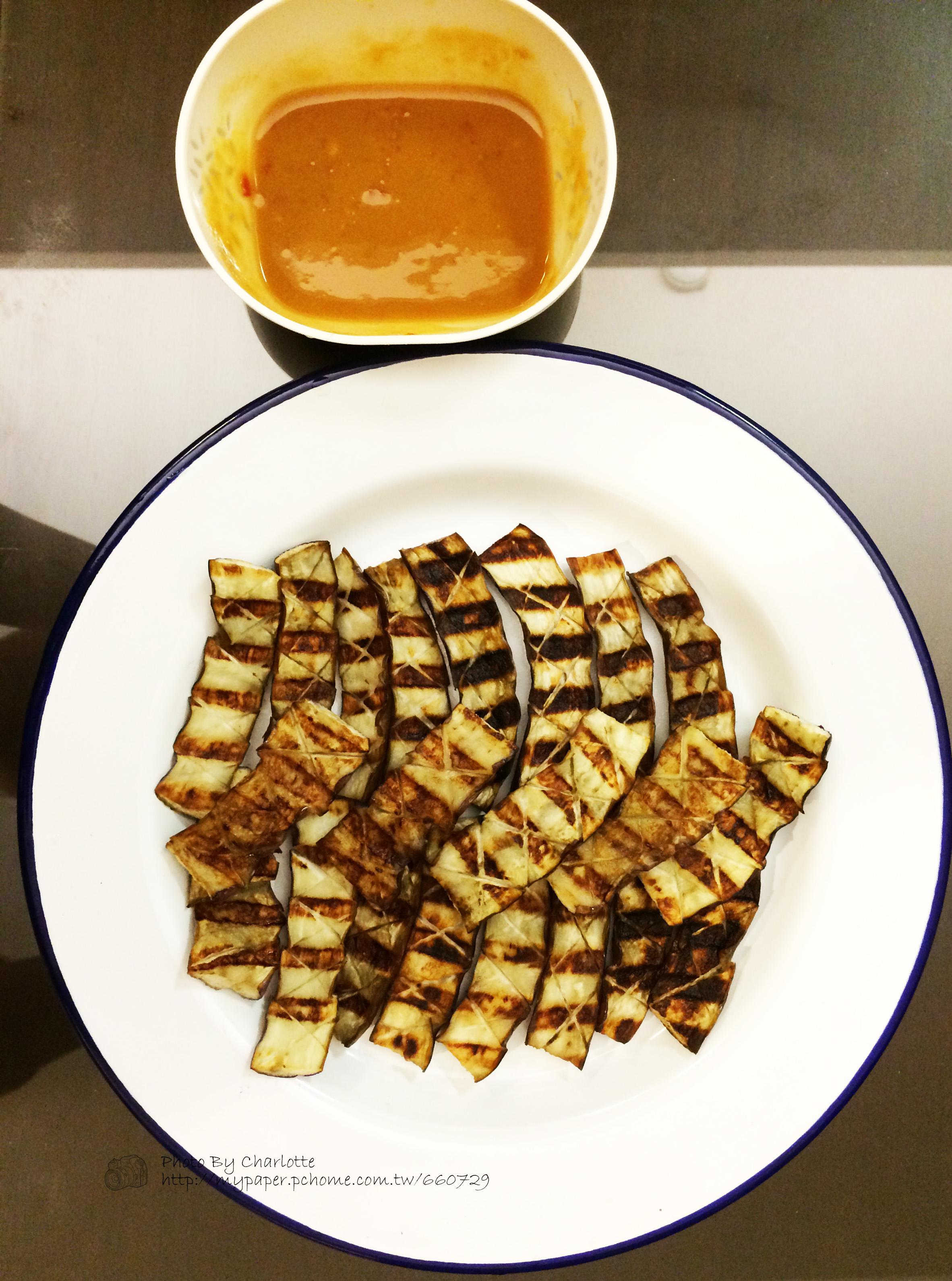辣花生醬烤嫩茄