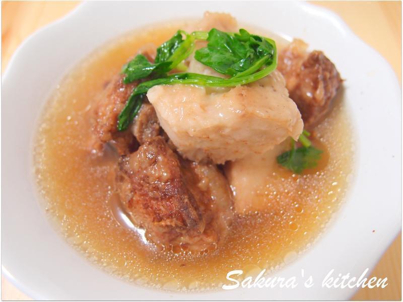 ♥我的手作料理♥ 芋頭排骨酥湯