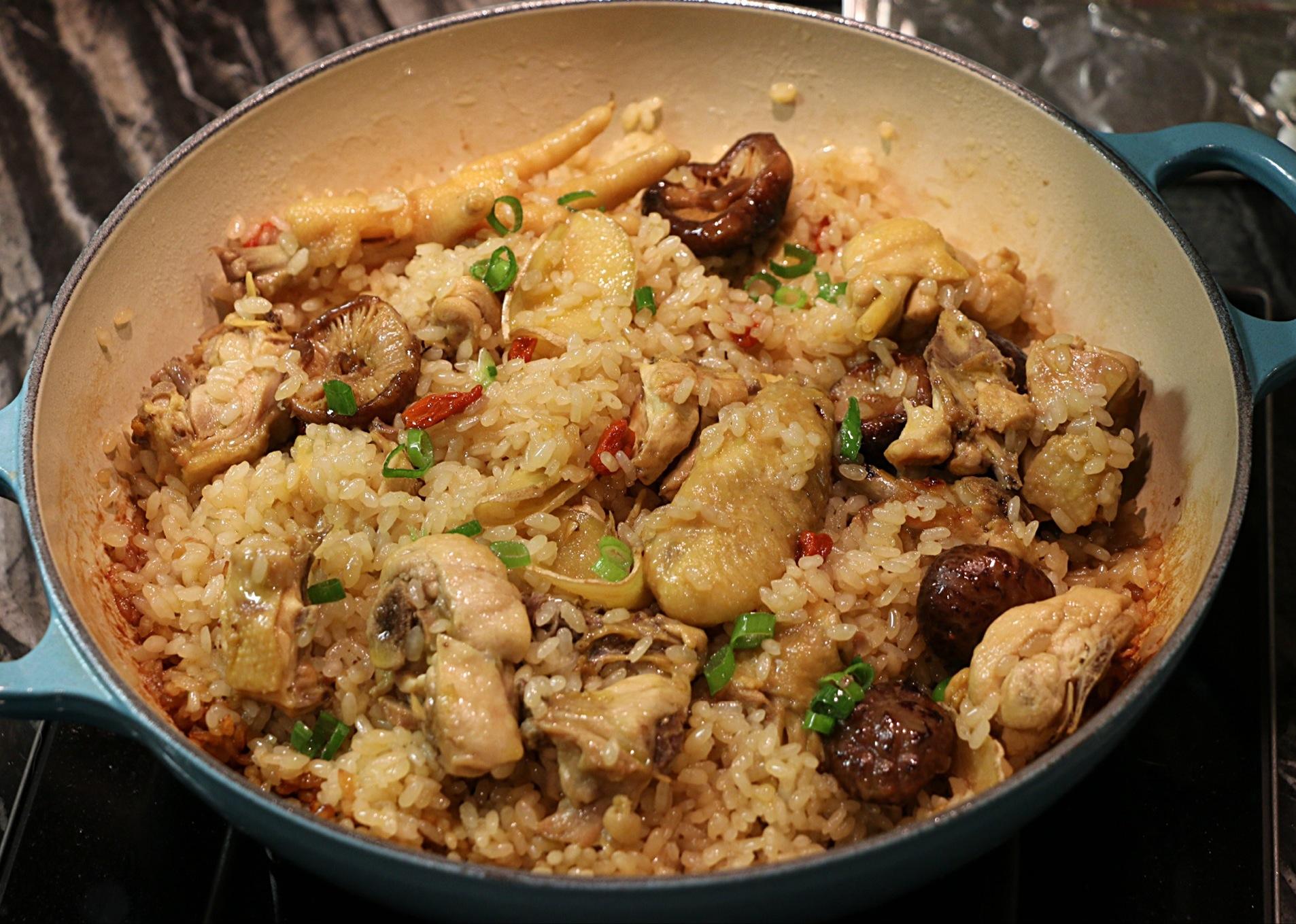 麻油香菇雞燉飯