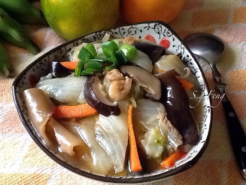 魚皮白菜滷(羹)