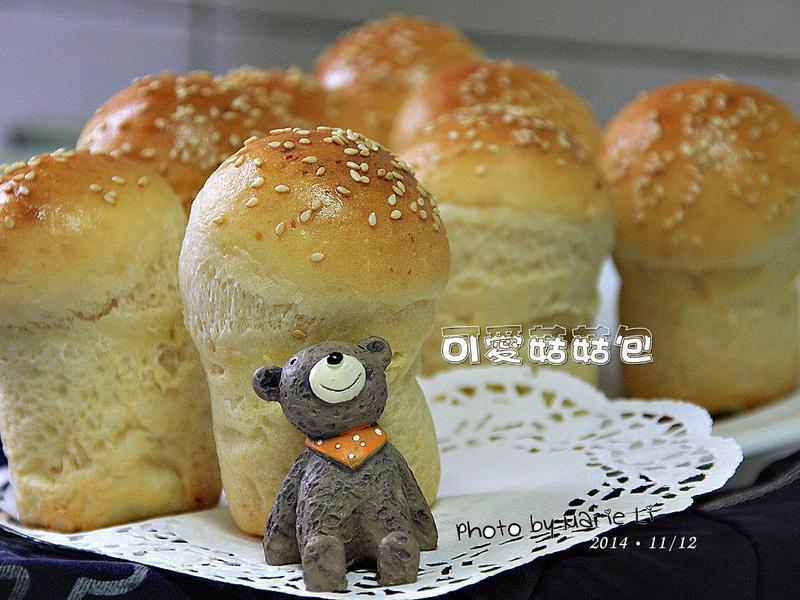 超可愛起士菇菇(豆渣)麵包