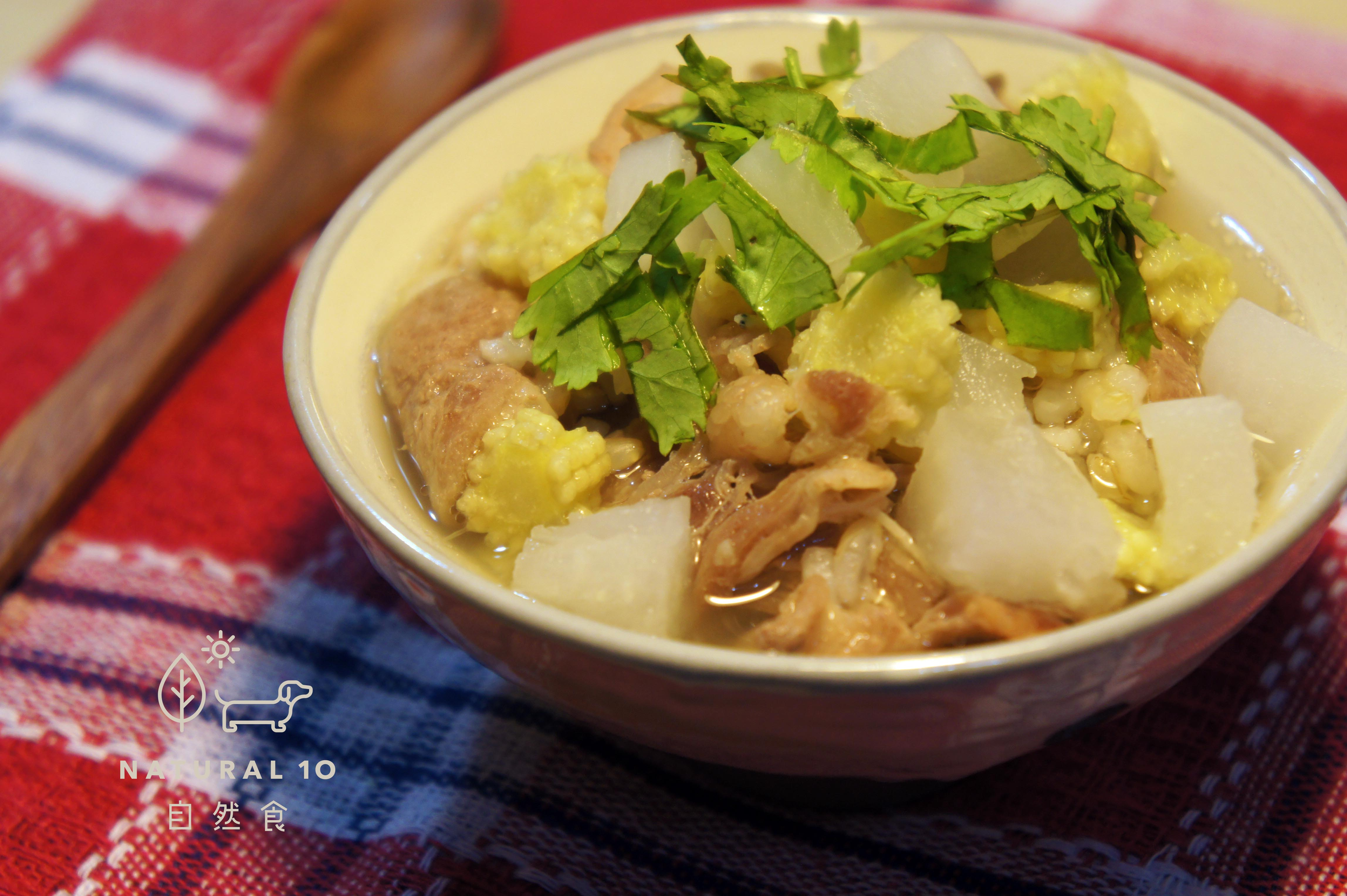 寵物鮮食食譜>涮羊肉蘿蔔湯泡飯,狗鮮食