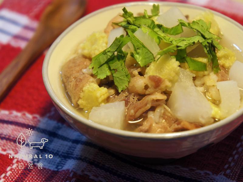 狗狗鮮食>涮羊肉蘿蔔湯泡飯<by自然食
