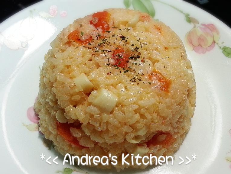 整顆番茄飯-番茄菇菇鮮蝦燉飯