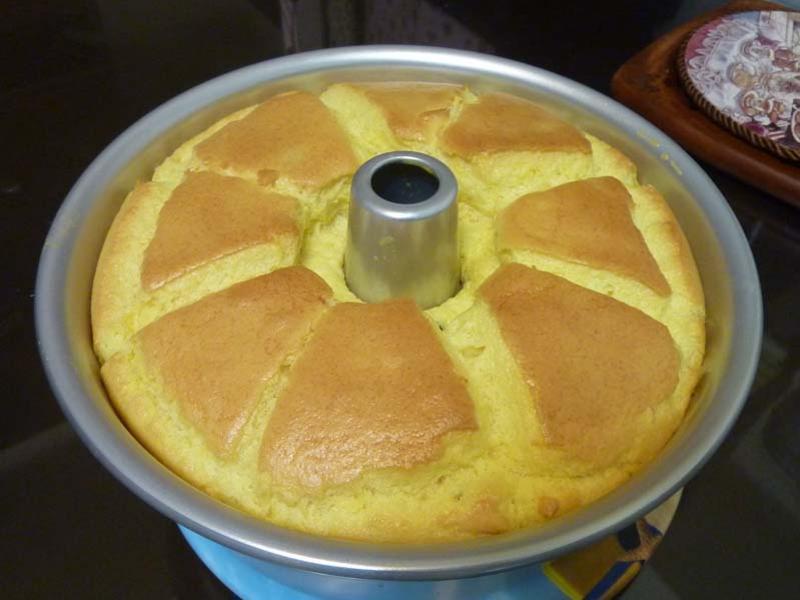 百香戚風蛋糕