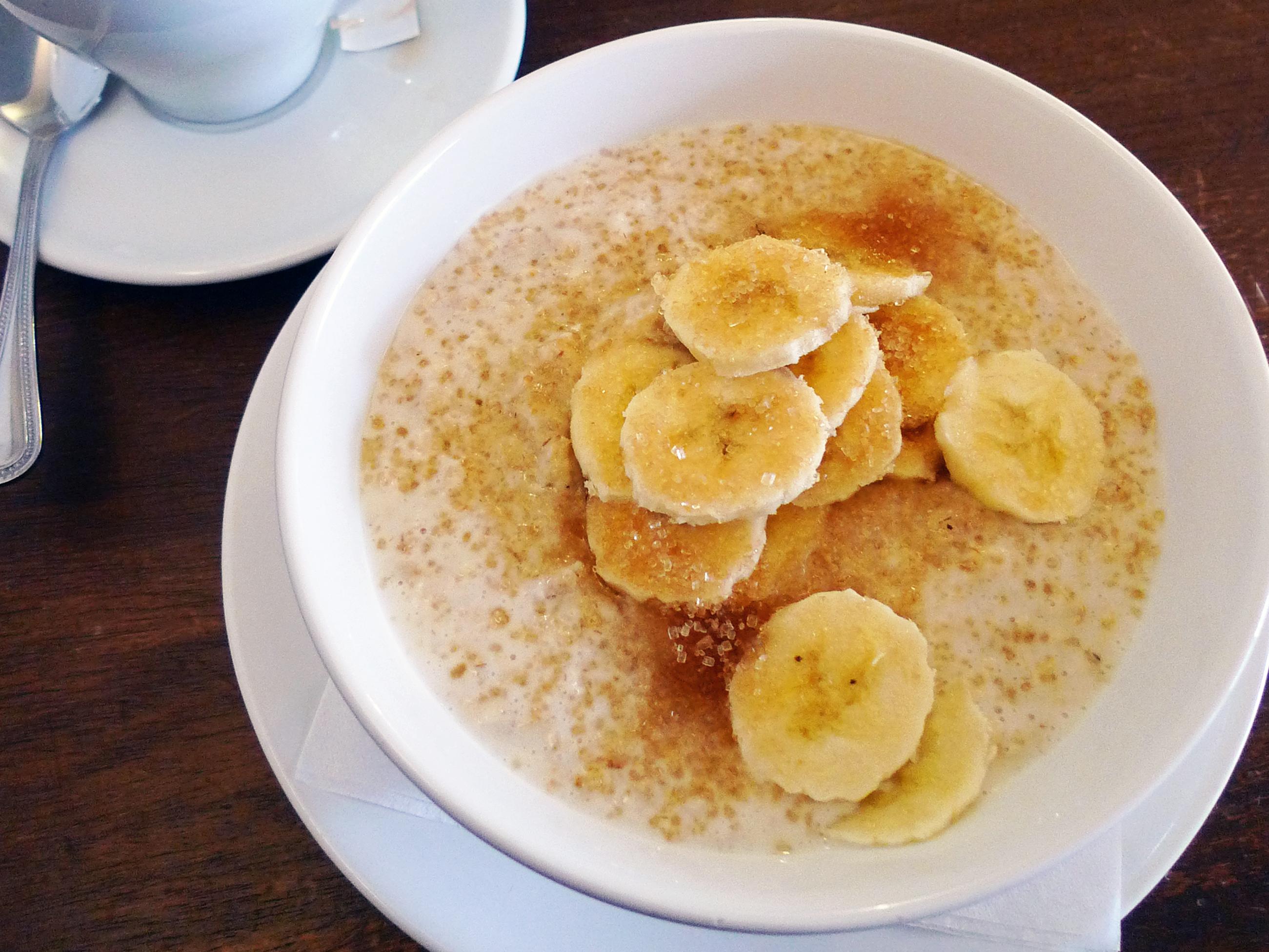 香蕉香草鮮奶麥片粥