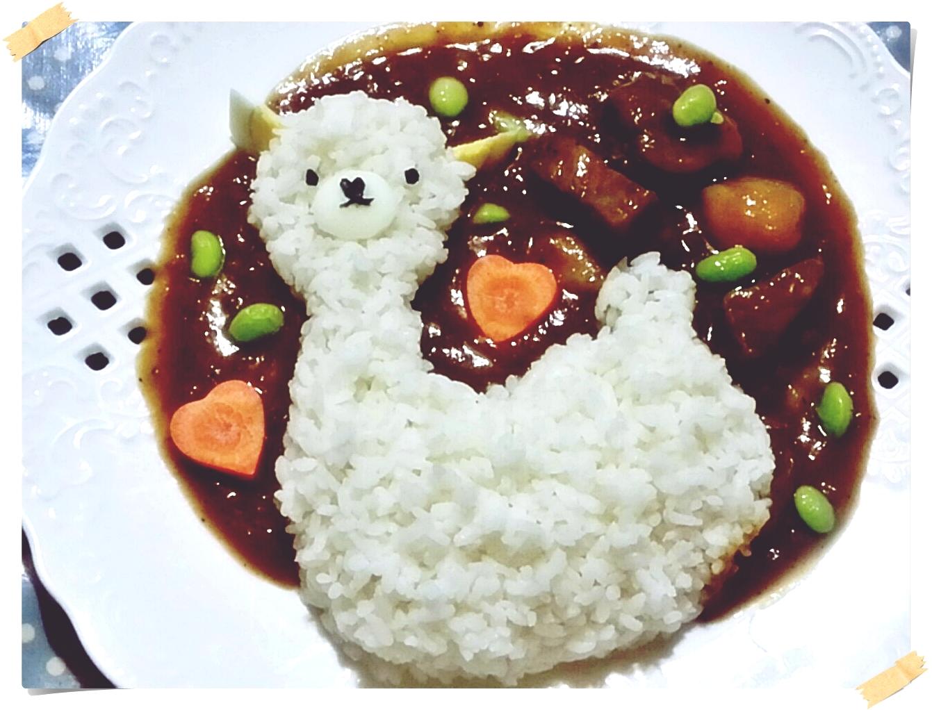 玩玩米飯兒之草泥馬咖哩