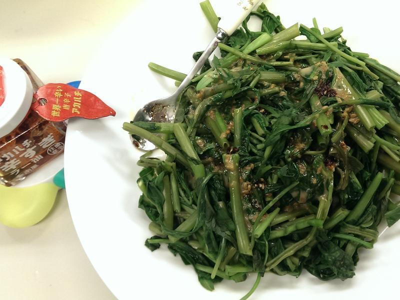 芝麻辣油拌青菜