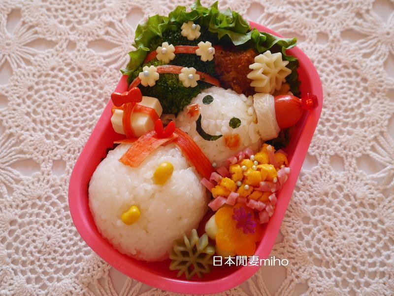 日本閒妻miho聖誕雪人便當作法