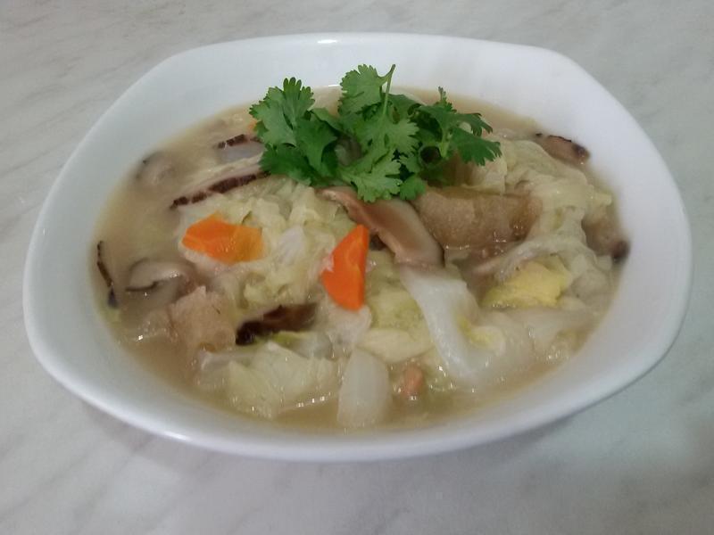 炸豬皮滷白菜 (參考阿基師作法)