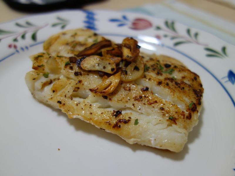 香蒜奶油煎鱈菲力