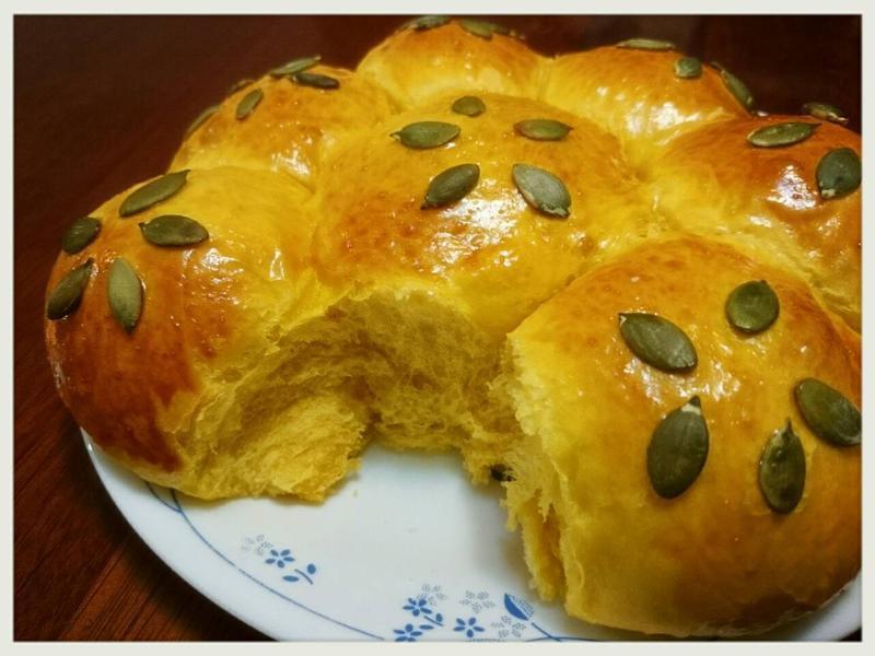 南瓜奶油麵包