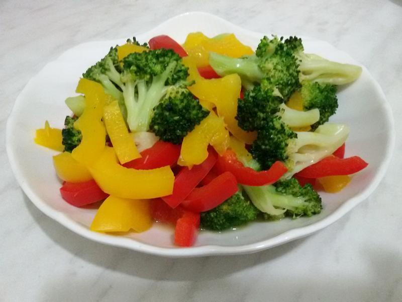 甜椒花椰菜