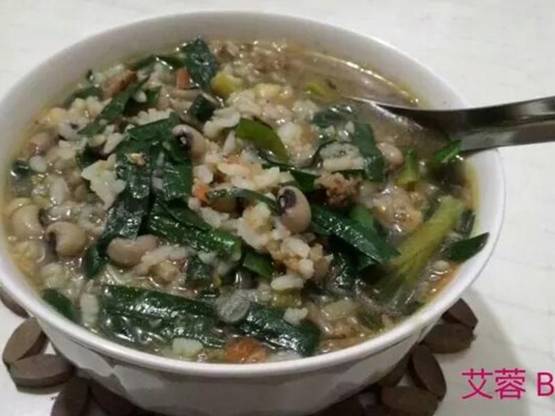 韭菜米豆粥【阿嬤ㄟ古早味】