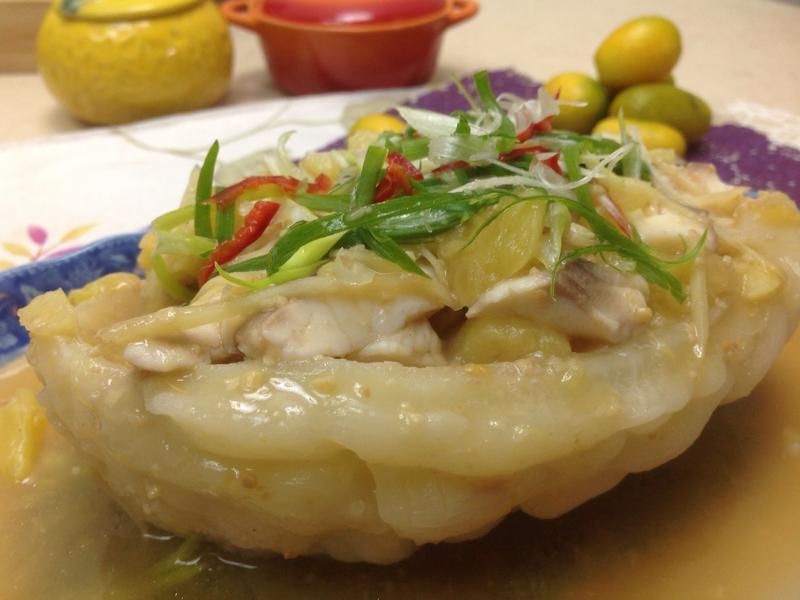 塩麴鳯梨鯛魚苦瓜船