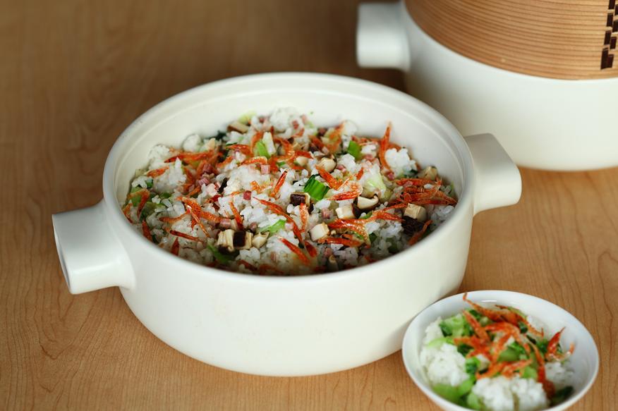 JIA Inc.蒸鍋蒸籠|櫻花蝦火腿菜飯