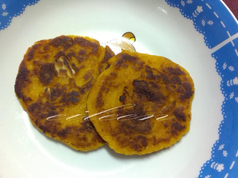 地瓜杏仁煎餅