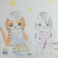 Cats in kitchen